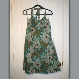 NWT The Limited Floral Halter Dress 100% cotton